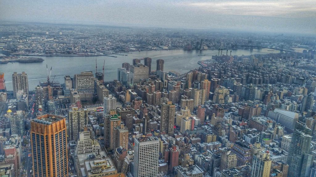 Sky view of New York City